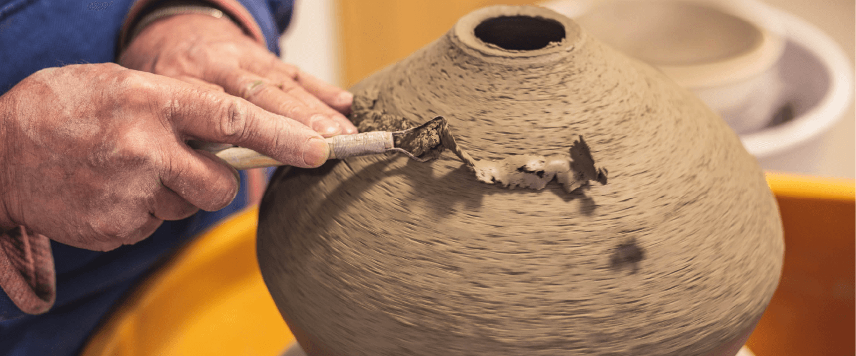Creating a ceramics vase