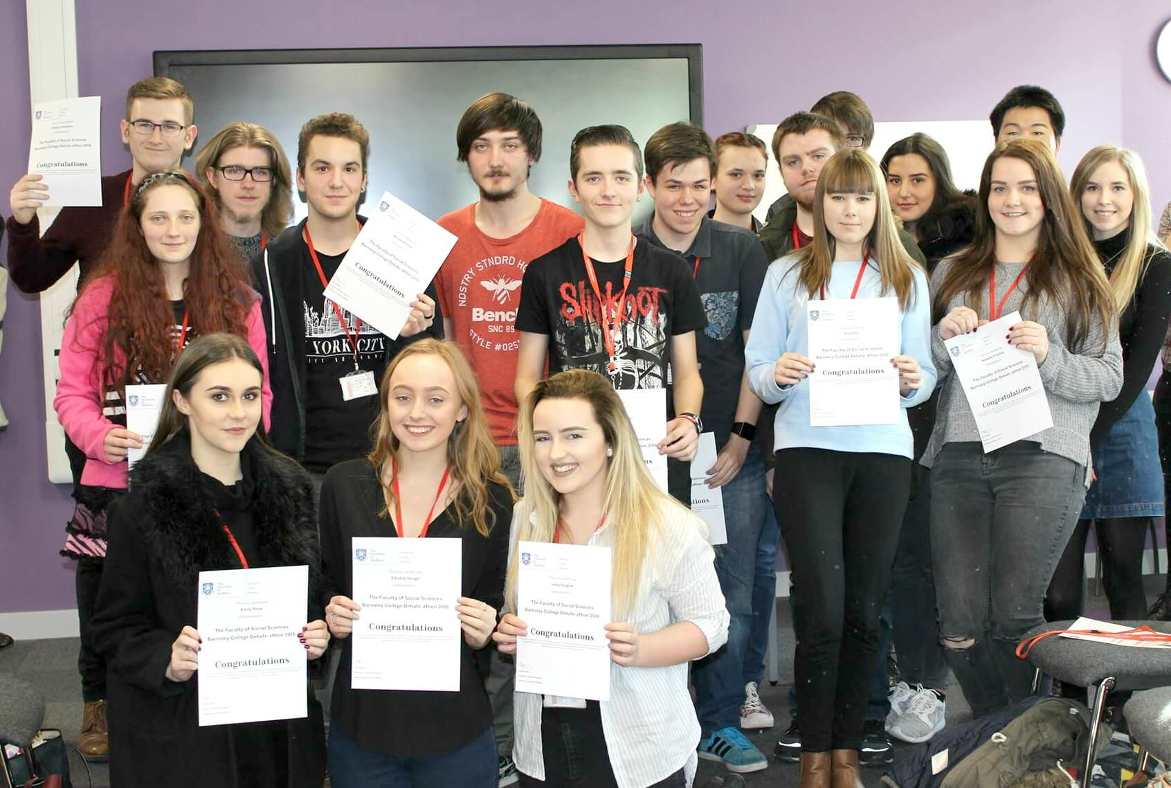 barnsley sixth form college students take part in mock parliamentary