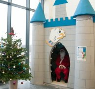 Primary school pupils visit Disney inspired Santa's grotto
