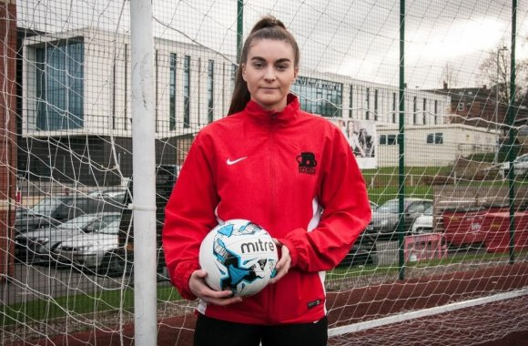 Brittany's pride at representing English Colleges Football Association