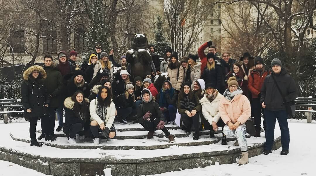 Barnsley College and Barnsley Sixth Form College students in New York