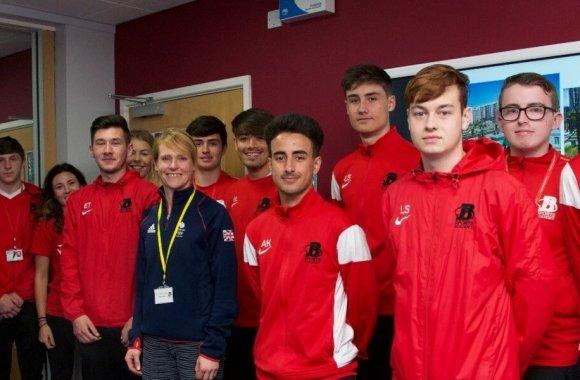 Barnsley College welcomes Olympian