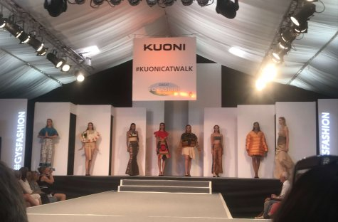 Barnsley College Fashion students' clothing collection at the Great Yorkshire Show.