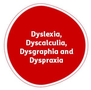 Dyslexia, Dyscalculia, Dysgraphia and Dyspraxia