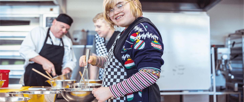 Student baking