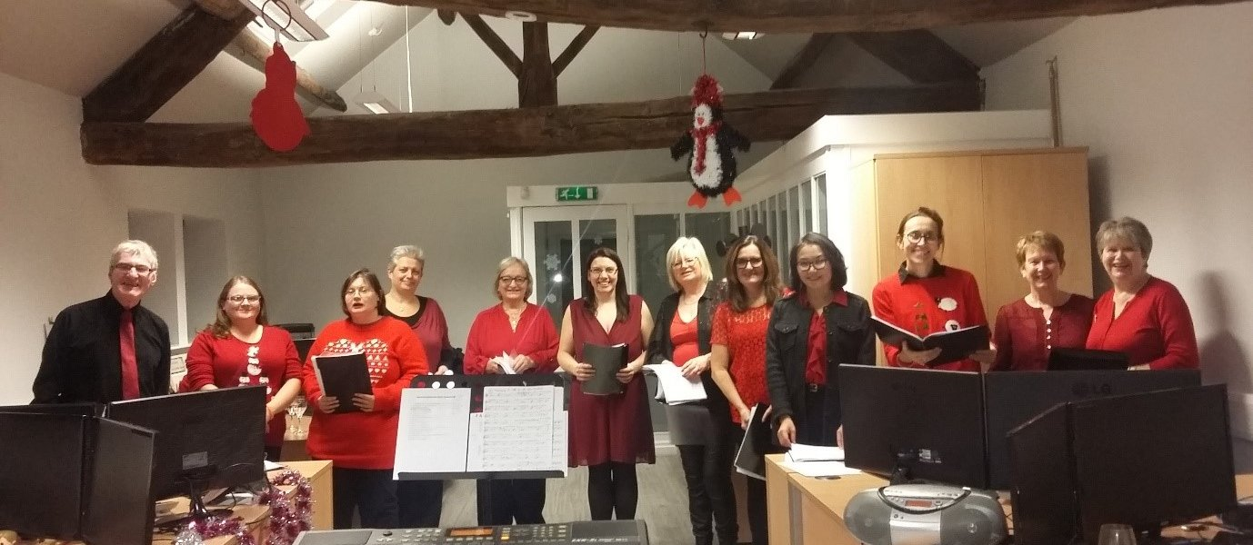 Barnsley Community Choir perform at GBAC Accountants