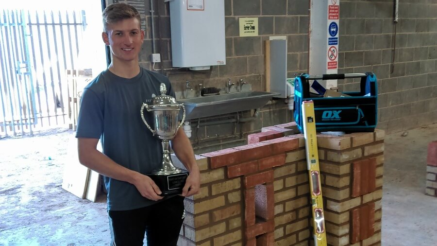 Student clinches first place in national bricklaying