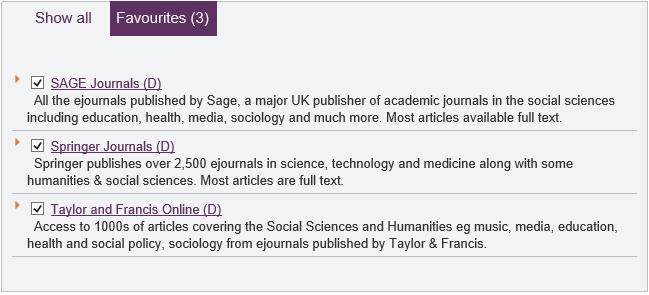 Sage Journals Springer Journals Taylor and Francis Online