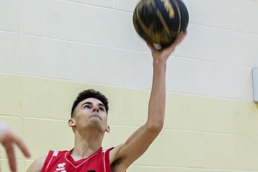 Calin playing Basketball