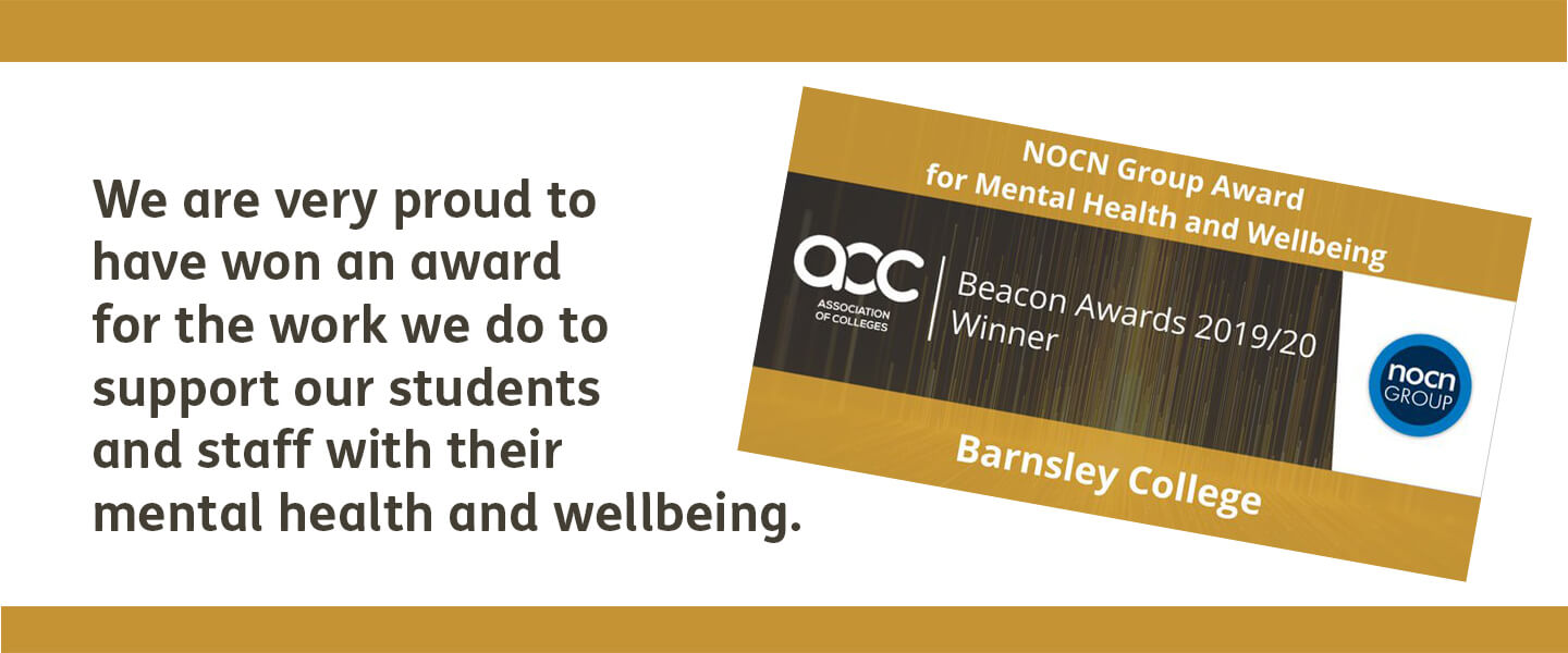 AOC NOCN group award for mental health and wellbeing