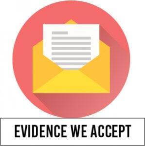 Evidence we accept