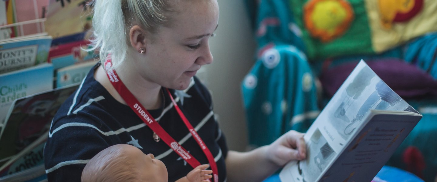 Childcare student at Barnsley College