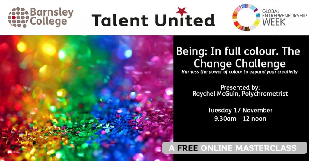 Raychel McGuin Being In Full Colour Masterclass for Talent United at Barnsley College