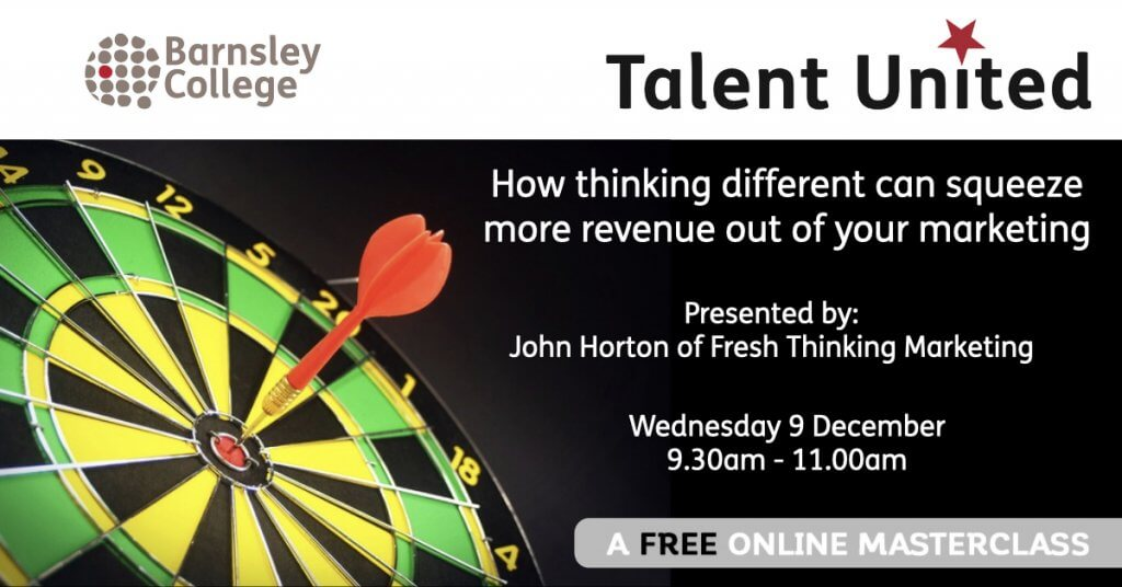 Talent United Masterclass from Barsley College and Fresh Thinking