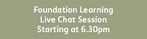 Foundation Learning 6.30pm