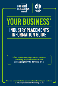 Industry Placement Guide For Employers