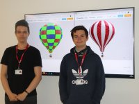 Left to right - Milan Dobrita and Matthew Bottomley.
