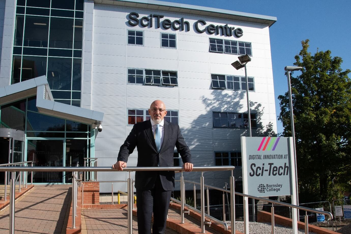 Secretary of State for Education The Rt Hon Nadhim Zahawi MP, officially opens £7 million redevelopment of the SciTech Digital Innovation Hub.